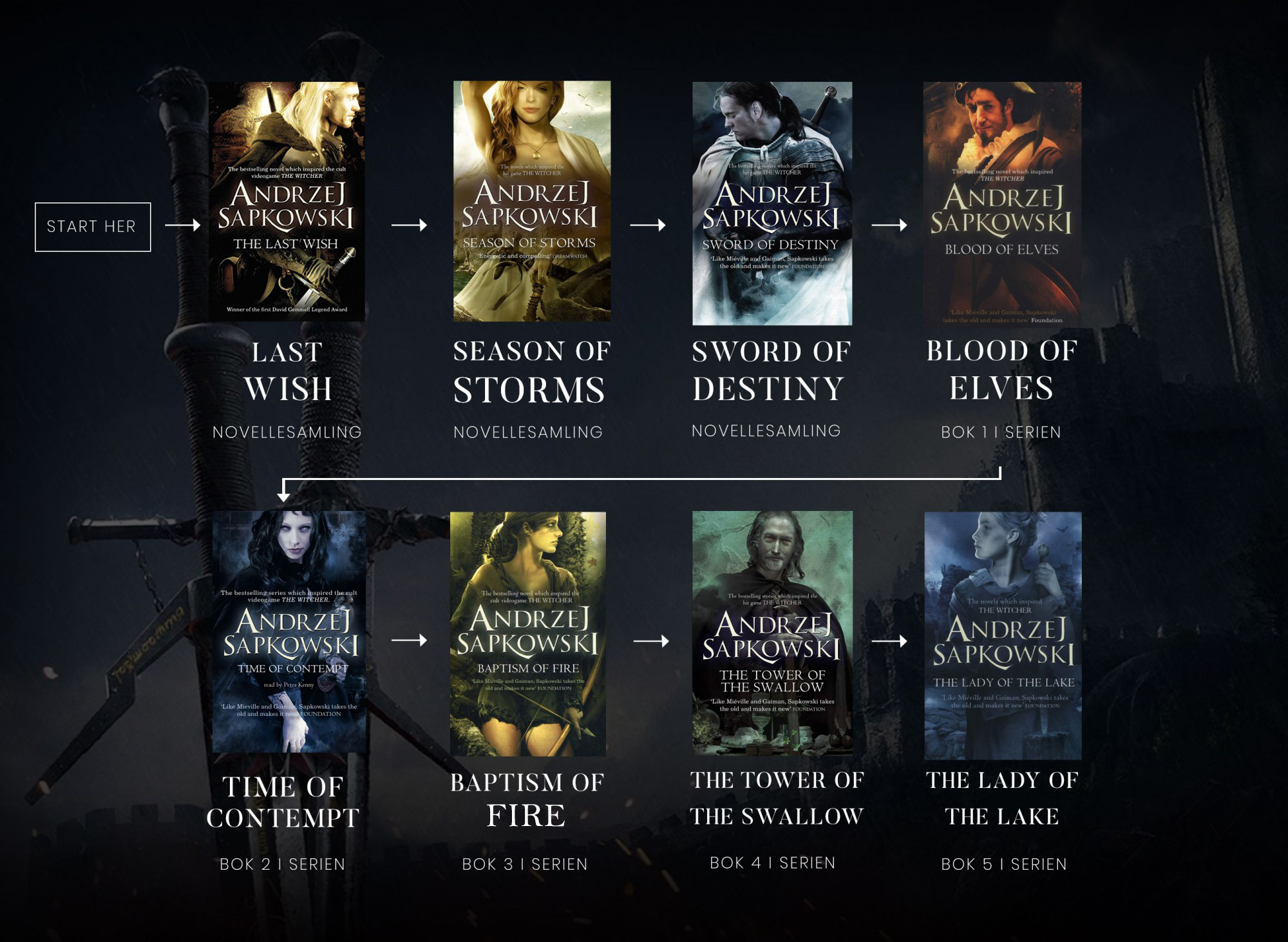 The Witcher recommended reading order